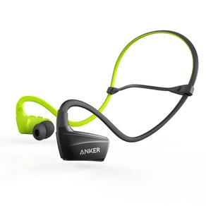 Fone de Ouvido Anker SoundBuds Sport NB10 Bluetooth Preto e Verde